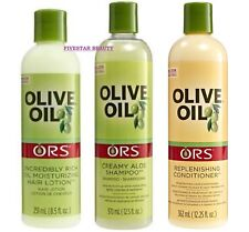 ORS OLIVE OIL SHAMPOO,REPLENISHING CONDITONER & OIL MOISTURIZING HAIR LOTION SET