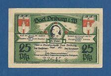 ALEMANIA // GERMANY -- NOTGELD -- BAD DRIBURG -- 25 PFENNIG ( 1921 ) -- aUNC .