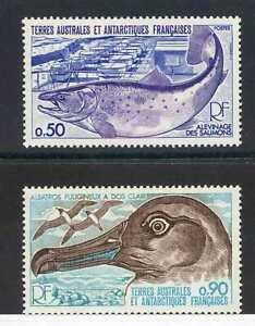 French Antarctic SG123/4 (Bird) Unmounted Mint