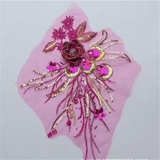 1x Venise Motif Lace Applique Trim Dance Wedding Bridal Dress Embroidery Sew DIY
