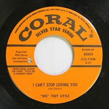 """Country Nm! 45 """"Big"""" Tiny Little - I Can'T Stop Loving You / King Of The Road On"""