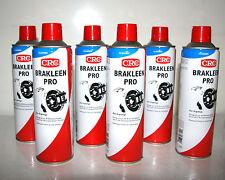 6x CRC BRÄKLEEN  Bremsenreiniger 500ml Spraydose Teilereiniger