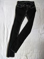 DENIMBIRDS by Nudie Damen Jeans Röhre Black W26/L34 slim fit low waist tube leg
