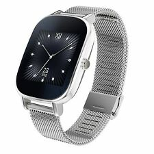 ASUS ZenWatch 2 Silver Smart Watch with Quick Charge Battery, 4GB, 1.45-Inch