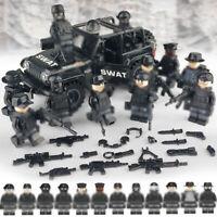 29 10 Custom Köpfe tan Sturmhaube für LEGO® Figuren Bankräuber Polizist Swat
