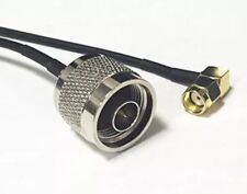 N male plug to RP SMA male plug RA RF Pigtail Cable Coaxial Jumper RG174 20cm 8
