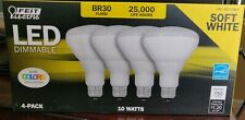 12 Pack Feit Electric Dimmable LED BR30 2700K 90+ CRI 10W 25000 hours