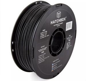 HATCHBOX ABS 3.00 mm 3D Printer Filament in Black, 1kg Spool