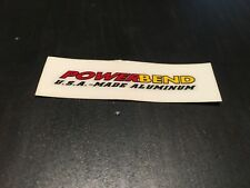 NOS VINTAGE POWERLITE POWERBEND BMX STICKER