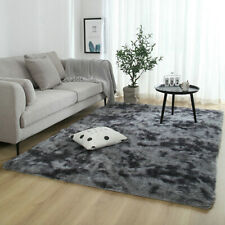 Fluffy Rugs Anti-Skid Shaggy Area Rug Dining Room Soft Carpet Floor Mat Bedroom