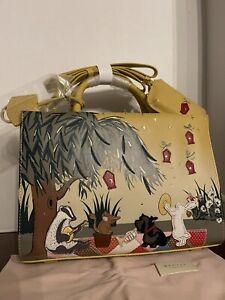New! Radley London Woodland Wanderers  Handbag, NWT Badger, Rabbit, Dog, Mouse