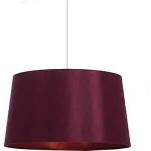 "Aubergine Cordelia 16"" Faux Silk Lamp Shade -Ceiling Pendant Shade or Lamp Shade"