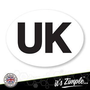 UK CAR STICKERS oval Euro EU car van lorry vinyl self-adhesive UK sticker