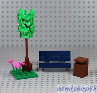 LEGO - Broadleaf Tree w/ Park Bench & Trash Bin - Foliage Plants Garden 10264