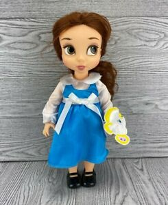 """Disney Store Animators Collection 16"""" Belle Toddler Doll in Blue Dress"""