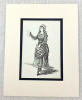 1889 Antico Stampa William Shakespeare Come You It Personaggio Celia Costume