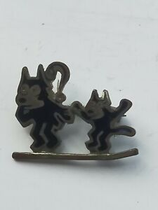 Very Rare Antique Felix The Cat Pin Badge