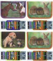 IDENA Schüleretui Tierkinder Federmappe Federtasche Etui gefüllt 50-teilig Tiere