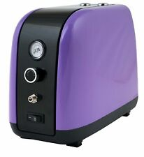 2Spray Airbrush Compressor 220-240V Art Touch Up Purple