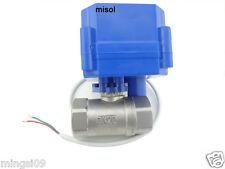 """motorized ball valve 12V, G3/4"""" DN20 (reduce port) manual switch,stainless steel"""