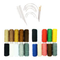 34Pcs Polyester Sewing Thread Spool Curved Needles Set for Garment Stitching
