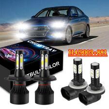 Combo H4 9003 LED Headlight + 881 Fog Light Bulbs For Hyundai Accent 2000-2017