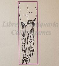 EROTICA - Ex-Libris Originale Nudo con CALZE e TACCHI A SPILLO Mario De Filippis