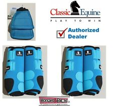 Turquoise Horse MEDIUM CLASSIC EQUINE Front Rear Legacy  Leg No Turn Bell Boots