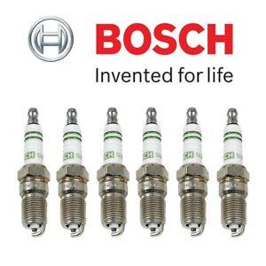 Set of 6 Spark Plugs Bosch Super Plus HR8DCX For Buick Cadillac Pontiac Mazda