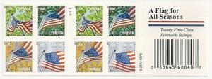 US 4785d Flag for All Seasons forever booklet SSP S1111 (20 stamps) MNH 2013
