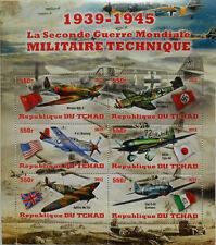 WWII World War II Weapons - Aircraft - s/s Tchad 2012 MNH #tchad2012-02
