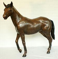 Bronzeskulptur, Pferd mit Manschetten, Dekoration für Haus und Garten *