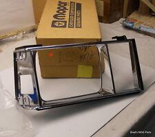 NOS new MOpar 1982 83 84 Dodge Aries Plymouth Reliant CHROME HEADLAMP BEZEL rh