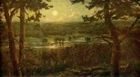 CECIL LAWSON 1880 Oil Painting THE AUGUST MOON Vintage Artwork 1930 Book Print