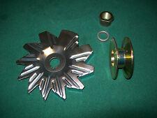 "Wide belt pulley 5/8"" - 3/4"" Fan & Spacer 10DN 10SI 12SI Tractor alternator Conv"