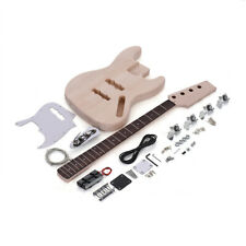 JAZZ Bass Style 4-String Electric Bass Solid Body Maple Neck DIY Kit Set O6C7
