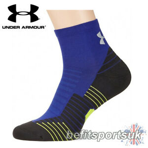 UNDER ARMOUR RUNNING SOCKS CHARGED MENS WOMENS LADIES GYM CROSSFIT SPORTS BLUE 1