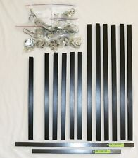"""Hobby Lobby Black Metal Sectional Picture Frames, lot of 27"""", 20"""" & 19"""" frames"""