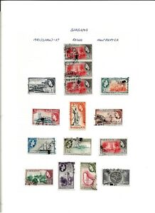 BARBADOS (A1-24) QE11 SG289-301 PICTORIAL FULL SET OF 13 TO $2.40 GOOD / FINE UD