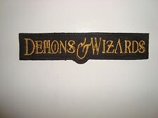 DEMONS & WIZARDS  - LOGO Embroidered PATCH Iced Earth Blind Guardian