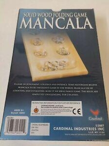 Solid Wood Mancala Game ~ Folding Mancala ~ by Cardinal New Sealed.