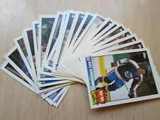1990-91 TOPPS HOCKEY, TEAM SCORING LEADERS, COMPLETE SET OF 21 CARDS