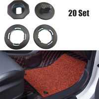 20 PCS Floor Mat Clips Set Anti-Slip Fixing Anchors For Car Mat Universal Black