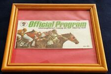 1972 LIBERTY BELL HORSE RACING PROGRAM IN BEAUTIFUL FRAME!