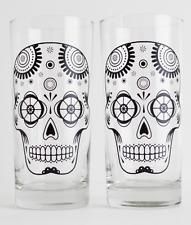 Sugar Skull Glasses - Halloween Drinking Glasses
