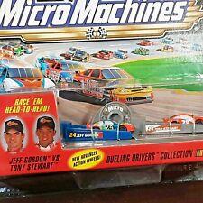 Vintage Micro Machine NASCAR #24 Jeff Gordon vs #20 Tony Stewart Dueling Drivers