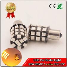 4x 12V LED BA15S LIGHT GLOBE 36 SMD 5050 Caravan Camper Car Auto Indicator 1156