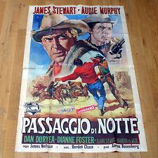 PASSAGGIO DI NOTTE poster manifesto James Stewart Night Passage Western  G1