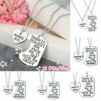 Daddy's Girl 2 Piece Necklace Set Father Daughter Keychain Gift Charm Pendant