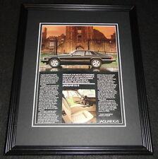 1985 Jaguar XJ-S Framed 11x14 ORIGINAL Advertisement